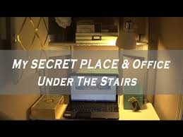 office under stairs. My SECRET PLACE \u0026 Office Closet Under The Stairs
