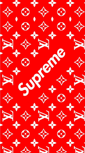 Red Louis Vuitton Supreme Wallpapers on ...