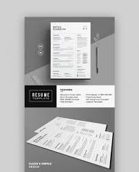 Template 18 Modern Resume Templates With Clean Elegant Designs 2018