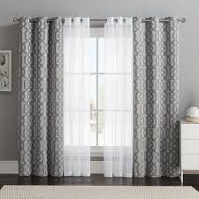 Curtain Design Ideas vcny 4 pack barcelona double layer curtain set gray 32