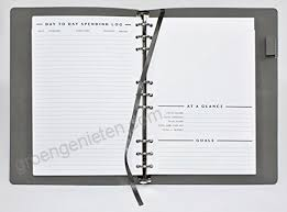 Monthly Finance Planner Clutterout Refillable Soft Cover Undated Monthly Finance Planner