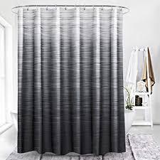 Black shower curtains Cool Broshan Modern Black Shower Curtain Fabricblack Ombre Textured Grey Natural Art Print Home Bath Amazoncom Amazoncom Broshan Modern Black Shower Curtain Fabricblack Ombre