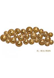 antique gold abstract metal decorative