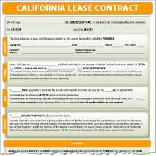 lease contract template california lease contract