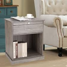 Full Size Of Oak Nightstand Joveco Square Accent End Side Table Salt Rustic  Nightstands Honey Black ...