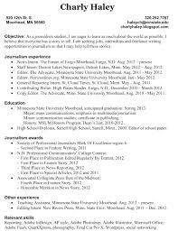 Template Template Journalist Resume Broadcast Journalism Templates