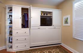murphy bed office. Painted Home Office Murphy Wall Bed In White By Showplace Cabinetry - View 3