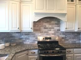 faux brick tile backsplash love brick in the kitchen easy install with our  love brick in