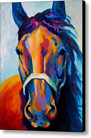 amazon com horse art prints on canvas animal painting for home