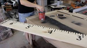 2x4 Ruler Growth Chart How To Make Kids Growth Chart Ruler