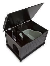 Wooden Litter Box Cabinets Amazoncom Designer Catbox Litter Box Enclosure In Black Pet