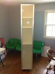 nice tall ikea akurum cabinet with frosted glass door