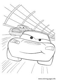 Small Picture Cars Lightning McQueen racing a4 disney Coloring pages Printable
