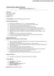 Resume For Construction Worker Resume Template For Construction Worker Resume Templates For