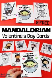 When i created the first set of star wars valentine's perfect for your star wars fans. Free Printable Mandalorian Valentine S Day Cards Rock Your Homeschool