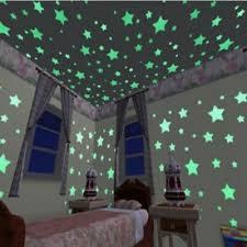 <b>100pcs 3D Stars Glow</b> In The Dark Luminous Fluorescent Kid ...