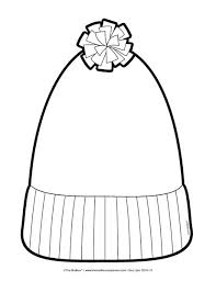 Small Picture stocking cap coloring page hat template winter hats and templates