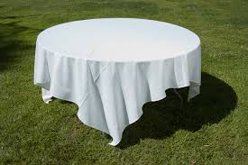 90 in white round tablecloth designs