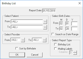 Generating The Easy Dental Birthday List Easy Dental
