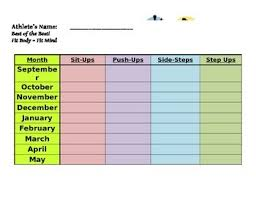 Fun Fitness Chart For Students