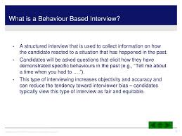 Behaviour Based Questions Introduction To Behaviour Based Interviews And Core Competencies