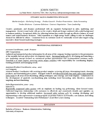 Sales Marketing Resume Gorgeous Sales Marketing Specialist Resume Traditional Variation With