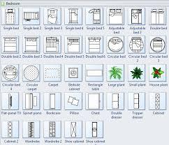 floor plan symbols bedroom. Bed Symbols For Floor Plan Bedroom Edraw