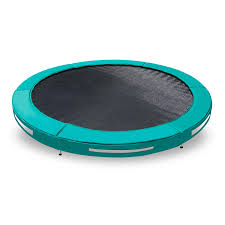 the action 10ft in ground trampoline requires 80 less soil removal compared to rectangular