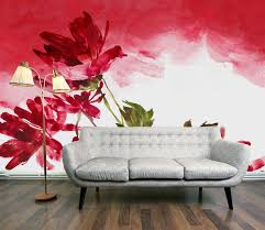 Wall Mural For Living Room Artwork Wall Murals For Living Room Red And White And Green Red