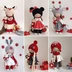 Интерьерные текстильные куклы своими руками 47