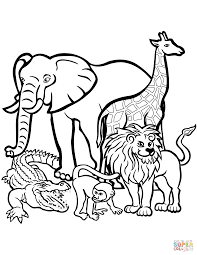 Small Picture African Animals coloring page Free Printable Coloring Pages