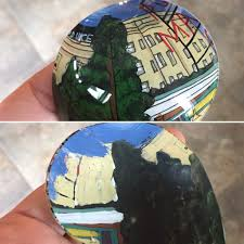 top photo is the exterior of the ornament bottom is the same piece seen from the inside back side of the painting of the ornament