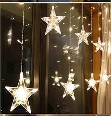 Dây đèn ngôi sao lớn vàng, Đèn LED dây trang trí hình ngôi sao. Dây Đèn  Hình Ngôi Sao Ánh Sáng Vàng 6 Sao Lớn, 6 Sao Nhỏ Dây Dài 5m