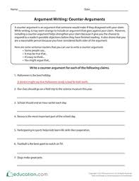 th grade essay writing worksheets printables com argument writing counter arguments