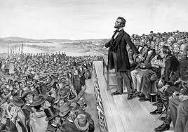 inventing a new nation at gettysburg the imaginative conservative lincoln delivering the gettysburg address war is hell