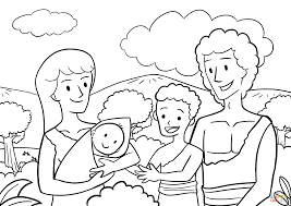 Small Picture First Children of Adam and Eve coloring page Free Printable