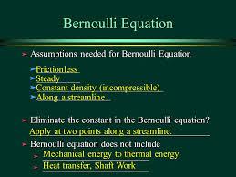 5 bernoulli equation ä assumptions