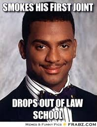 Smokes his first joint... - Carlton Banks Meme Generator Captionator via Relatably.com