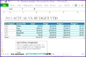 Accounting General Ledger Template Budget Ledger Template Budget Ledger Template Printable Excel