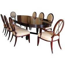 dining table with x back dining chairs by barbara barry for baker furniture for