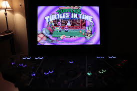 Ninja Turtles Arcade Cabinet Custom Tmnt Arcade Cabinet Has Joysticks With 3d Printed Ninja