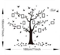 regenboghorn diy 3d huge black memory tree branch wall stickers family wall decals photo frames wall arts pvc murals home decals