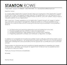 Application Support Analyst Cover Letter Sample Cover Letter