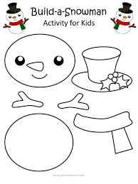 Template Of A Snowman Printable Christmas Snowman Craft With Free Template
