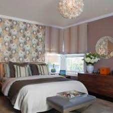 Floral Wallpaper Accent Wall in Neutral Master Bedroom