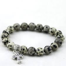 stylish catholic bracelet natural stone cross pendant pulsera woman and man e meaning uk singapore philippine rosary first communion charm