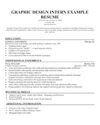 Resume Objective For Graphic Designer Resume Objective Examples For Internships 63