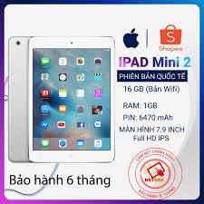 Máy tính bảng iPad Mini 2 chính hãng Apple - BH 6 tháng 1 đổi 1 giá cạnh  tranh