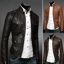 hugme fashion new men casual leather jacket style jk83