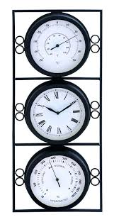 outdoor wall clock and thermometer enterprises metal outdoor clock thermometer by inch outdoor wall clock and thermometer sets